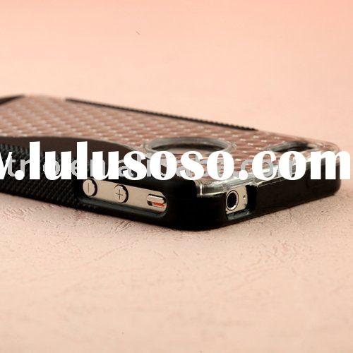 Polycarbonate with pliable TPU diamond cell phone shield