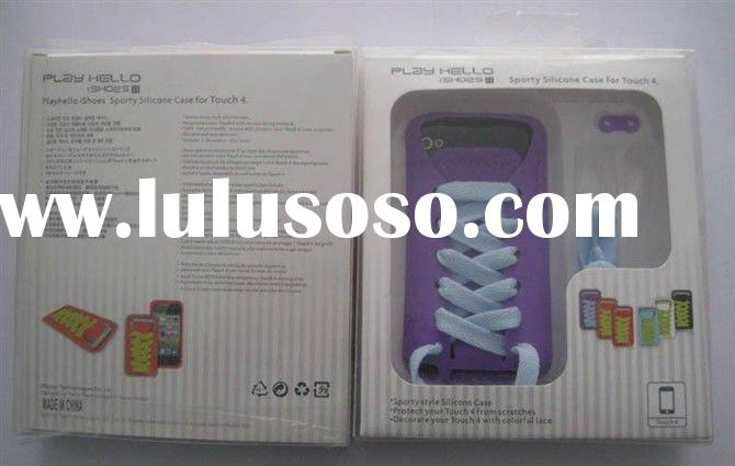 Popuplar Silicon shoelace case for ipod touch 4