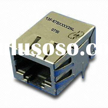 Power Over Ethernet ( PoE & PoE+ ) 10 / 100BASE-TX Network Interface Module , RJ45 Jack With Mag