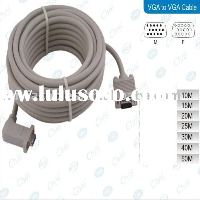 Premium VGA extension cable M/F with One 90 degree angle