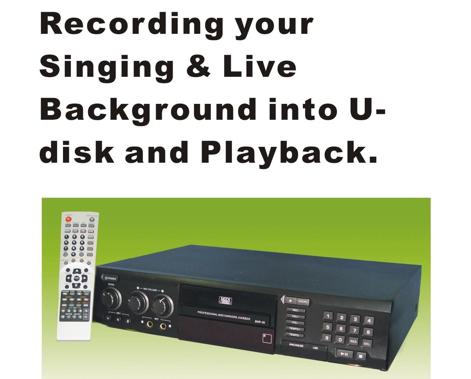 Rack Mount MIDI DVD Karaoke Player & Recorder,inbuilt Card Reader,USB,support digit mike (DVP-10