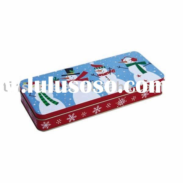 Rectangular pencil Tin Box
