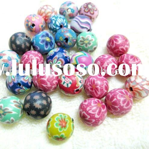 Round Polymer Clay Beads/Clay beads