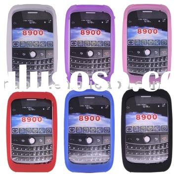 Silicone Rubber Case for Blackberry Curve 8900(many colors available)(Paypal available)