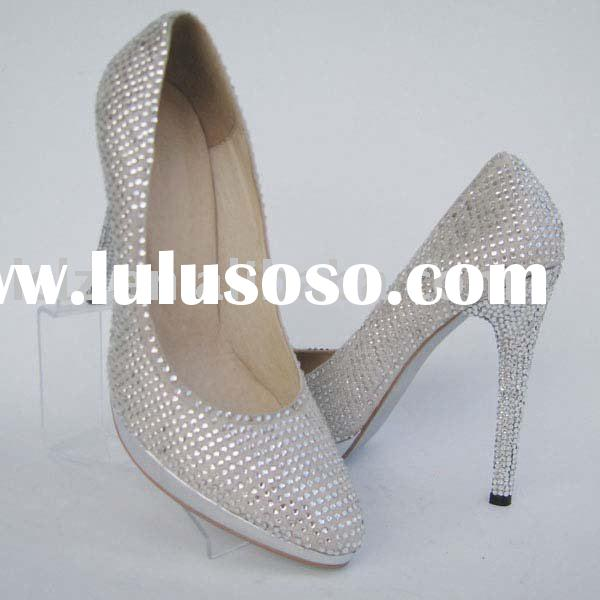 Silver Diamond Lady party shoes Hot selling G113