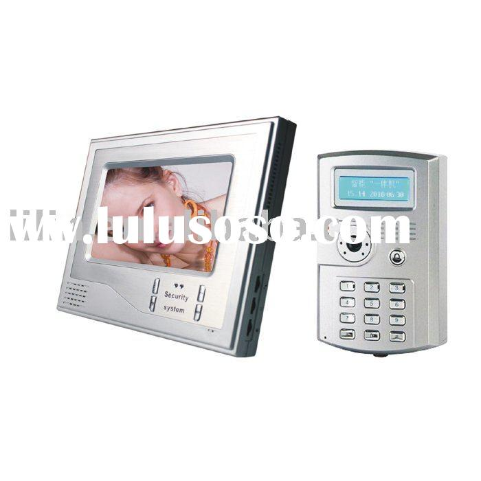 Super Thin 7 Inch Color Video Door Phone With Functions Of Time Attendance Machine, Unlocking By Car