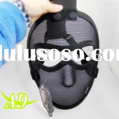 TMC Metal Wire Mesh Full Face Airsoft Mask ( Black )