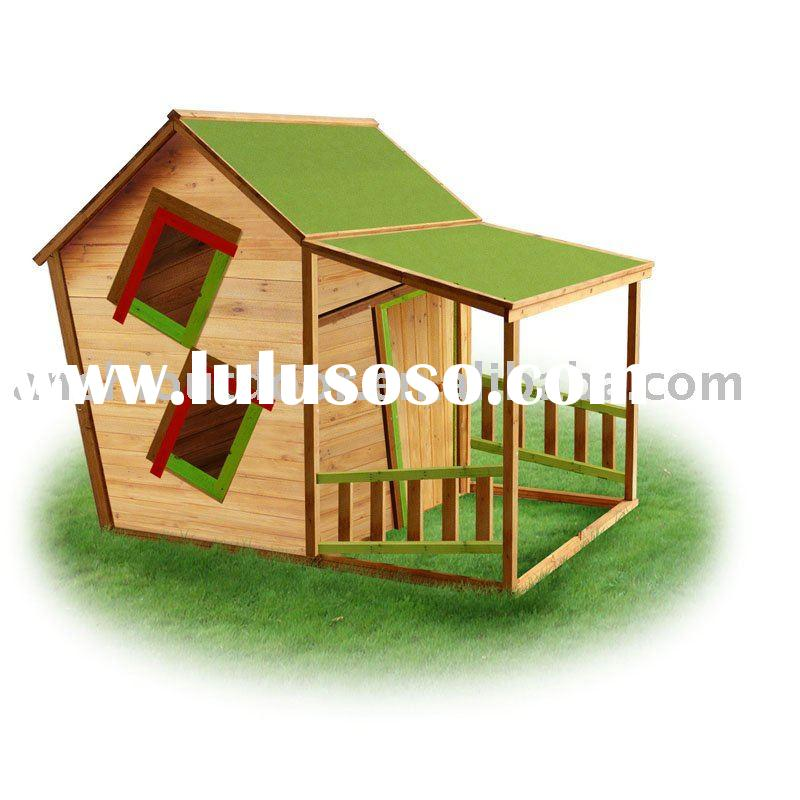 Kids Wooden Playhouse With Veranda For Sale Price China