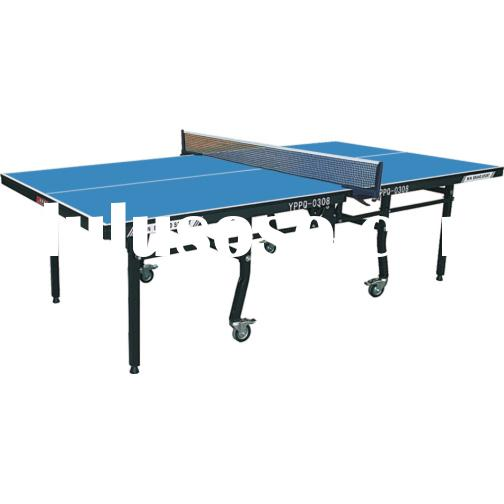 Two-folded wheel ping pong table