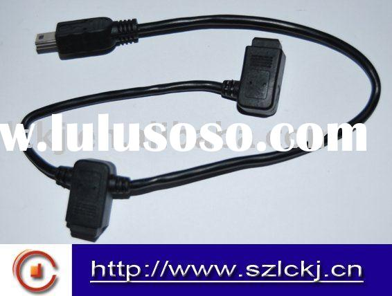 USB A male to 5 pin mini USB cable
