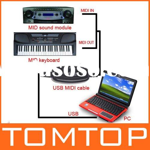 USB MIDI Cable Converter PC to Music Keyboard Adapter