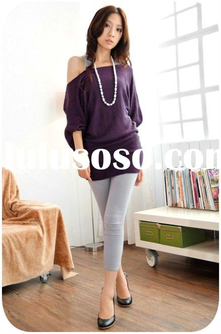 Vintage lantern sleeves purple long ladies top fashion casual top FY8015