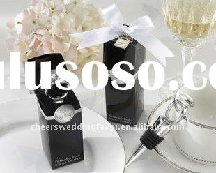 Wedding Favors - With This Ring Chrome Diamond-Ring Bottle Stopper