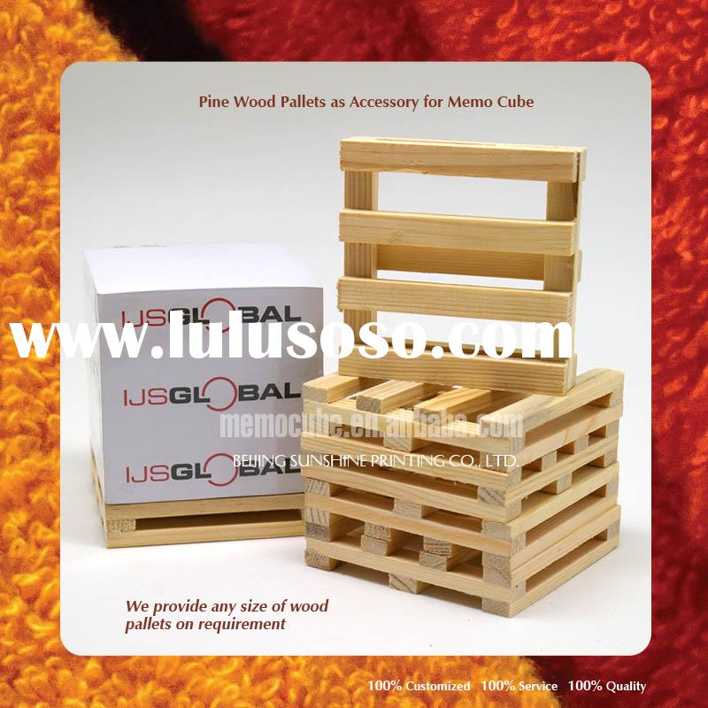 Wood Pallet, Wooden Pallet Accessory for Memo Cube, Memo pad