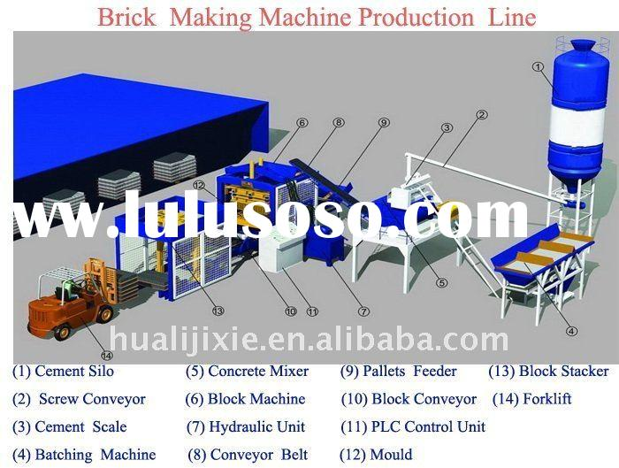 (T)Fully automatic concrete brick making machine