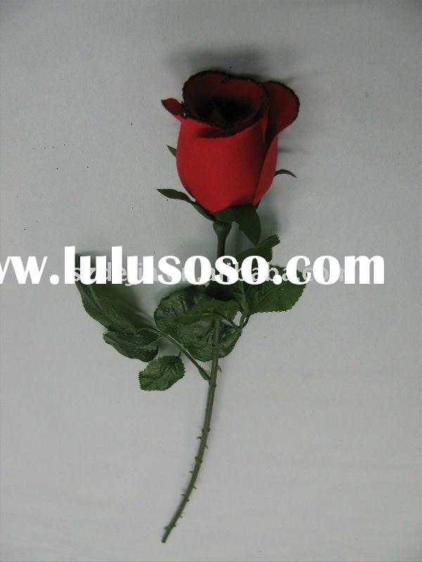 artificial Silk Rose Bud for Helloween,Sold at home and abroad