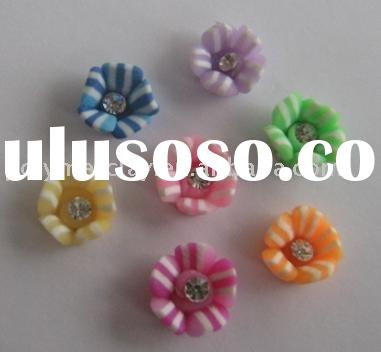 beautiful polymer clay flower beads