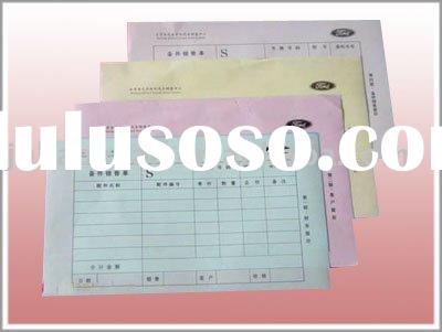 business form and bank bills