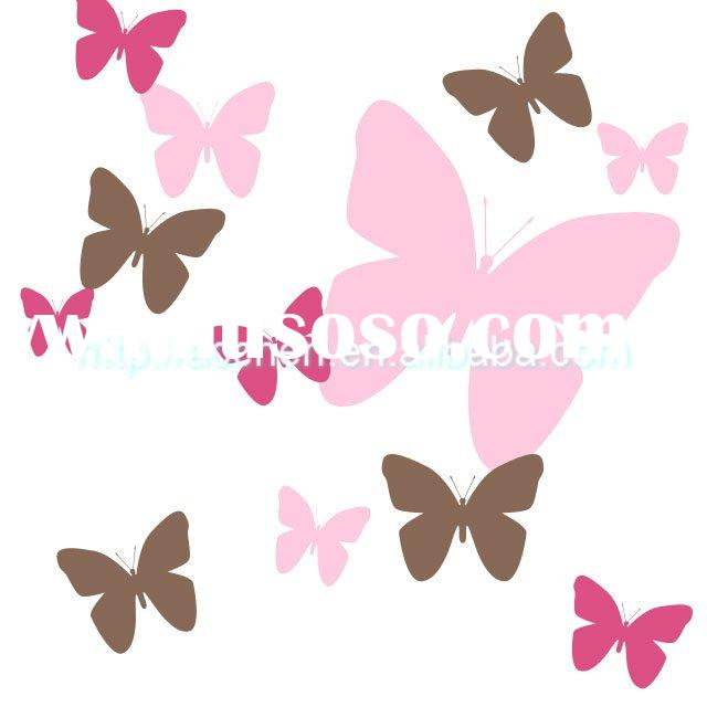 butterfly and flower wall decal