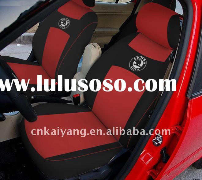 car seat cover red and black