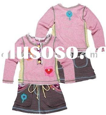 children wear,girl's summer suit,girl's fashion wear,girl's clothing,