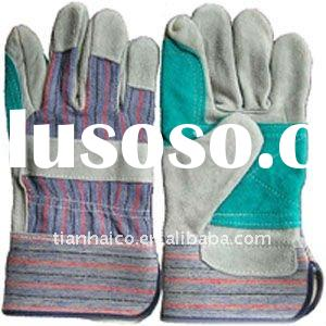 cow split leather workplace safety gloves welding gloves
