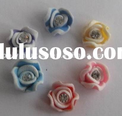 fashion polymer clay 3D nail beauty flower