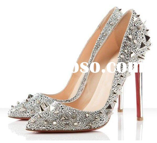 fashion red sole with stud high heels