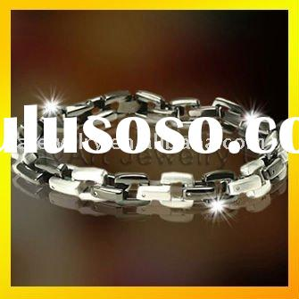 fashionable black plated metal jewelry bracelets paypal accepted