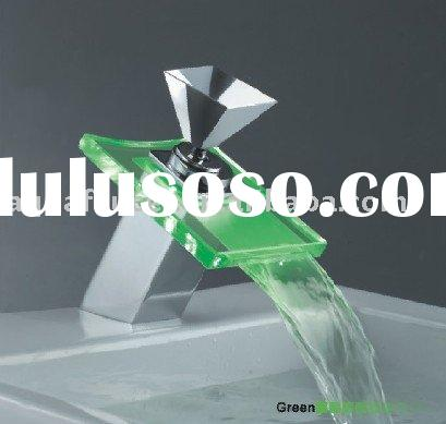 glass waterfall LED bathroom Bathroom glass countertop faucet mixer,tap