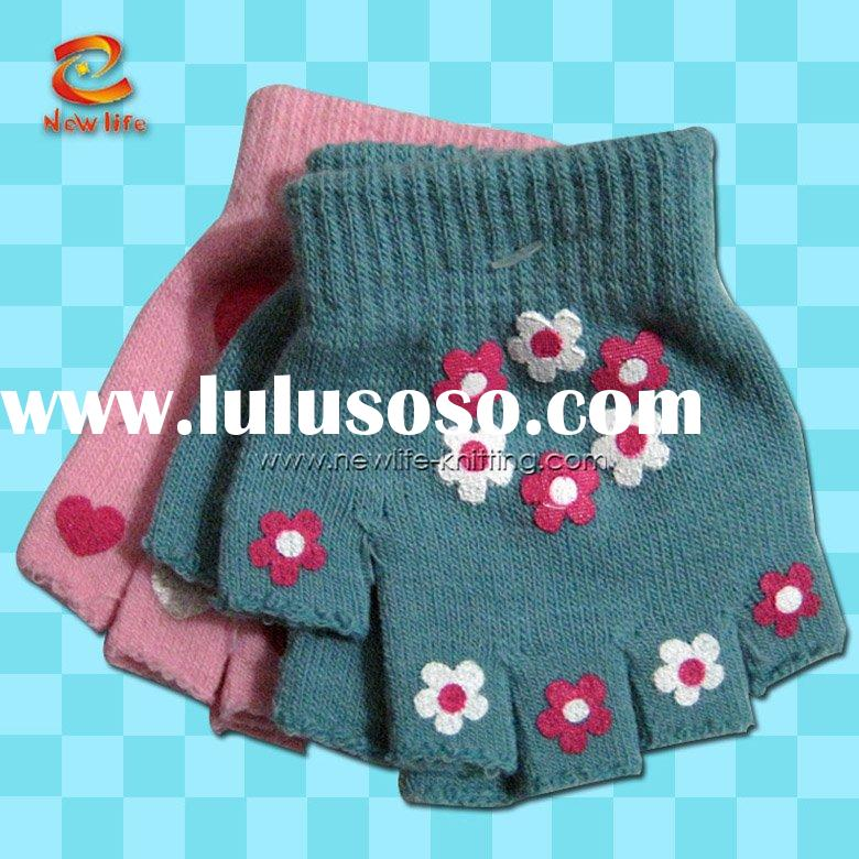 ingerless gloves knitting pattern,fingerless gloves patterns,fingerless striped gloves NLKG(228)
