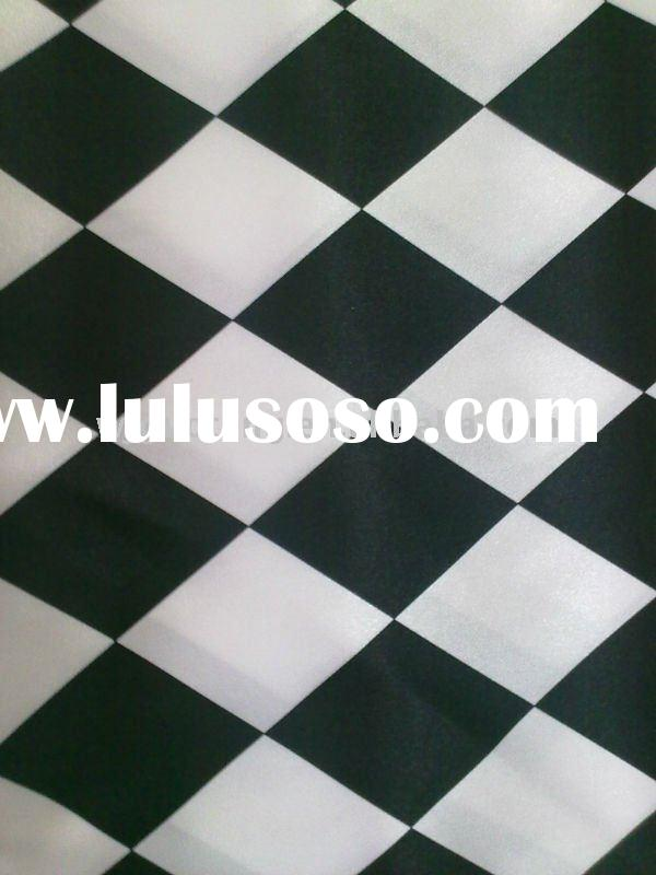 jacquard satin fabric for lining / 100% polyester satin fabric / shining satin fabric