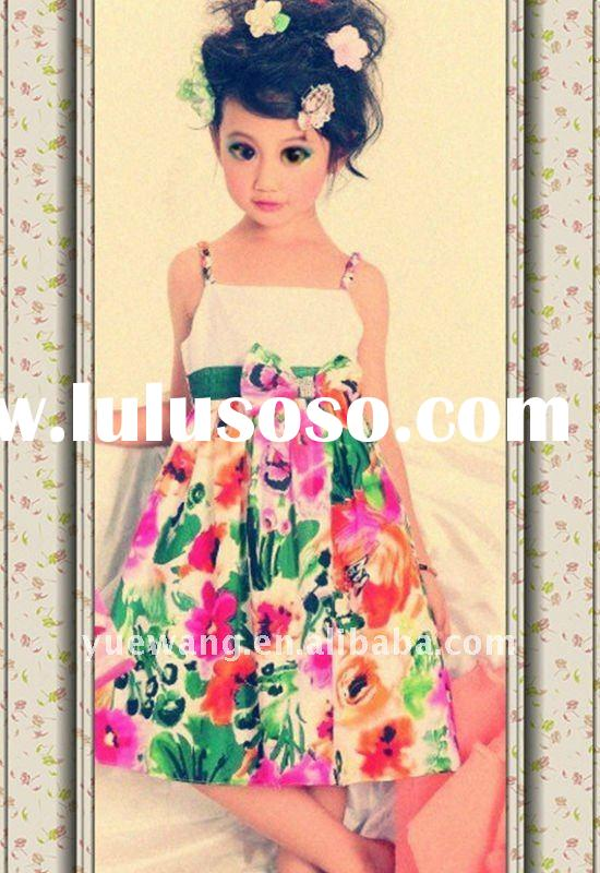 kids flower short skirt,baby clothes,princess dress E7