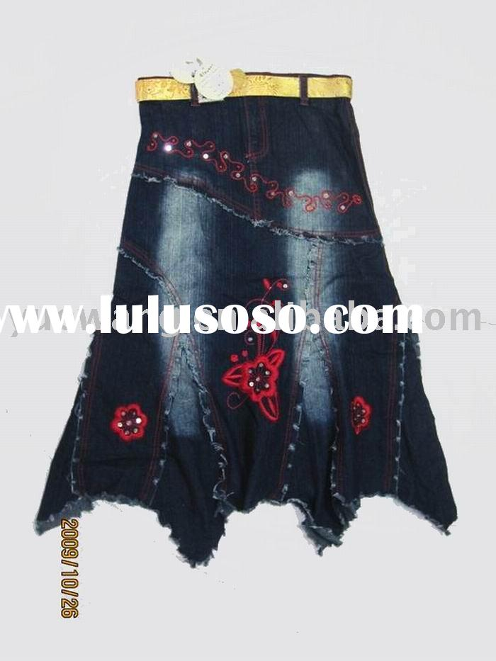ladies skirt best jean fabric