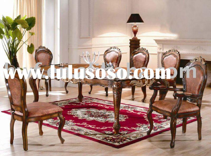 luxury wooden dining room set