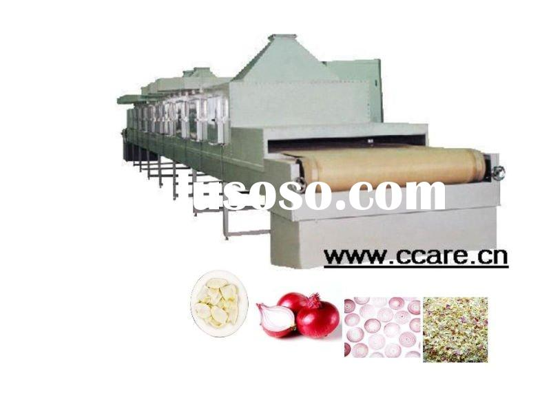onion and onion slices or chips microwave drying machine