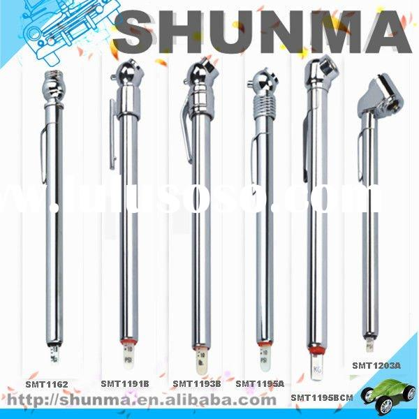 pencil tire pressure gauge, differential pressure gauge, popular style, metal tube with chorme-plast