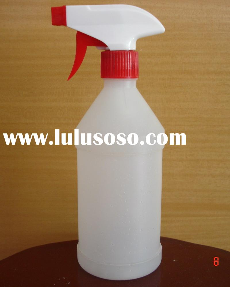 plastic bottle with spray