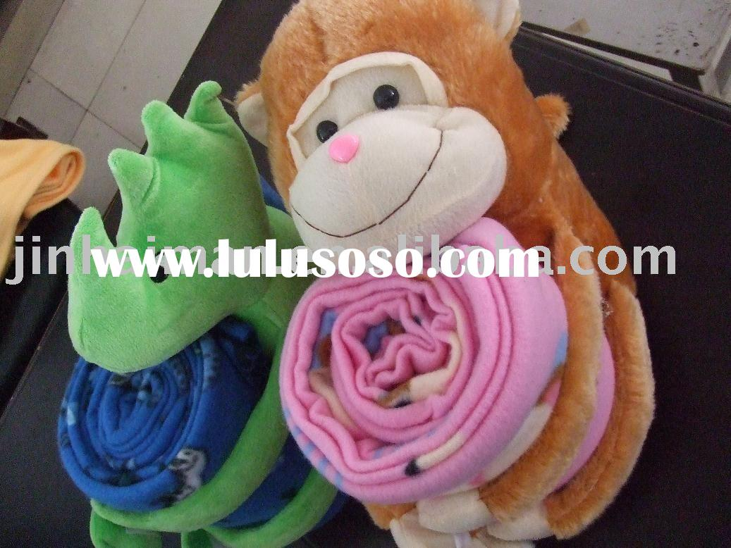 plush animal baby toy blanket