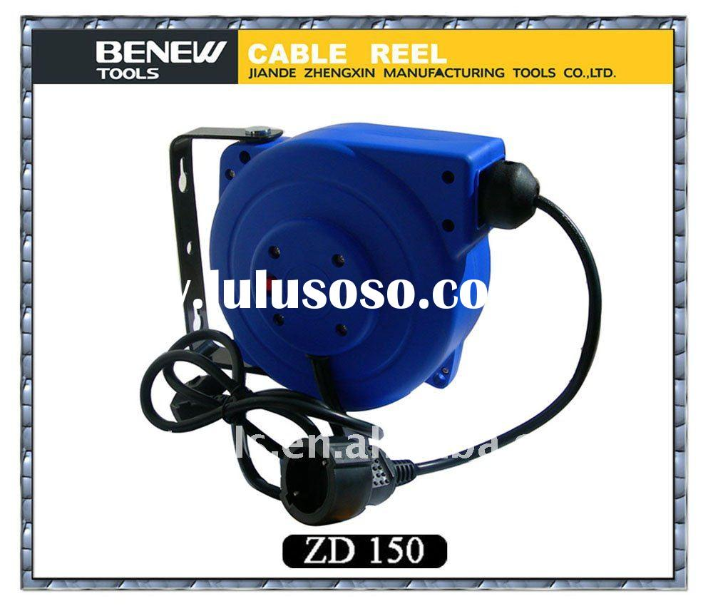 power cable reel, retractable cable reel, extended cord