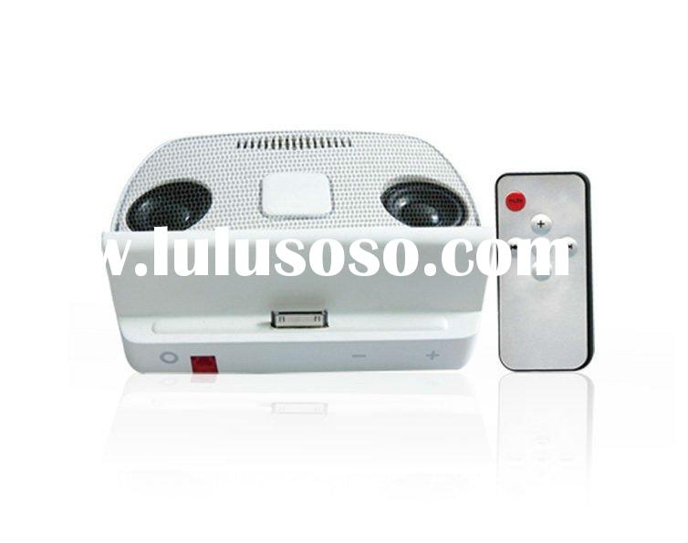 price docking station speakers for apple iPad iPhone iPod with 2 stereo mini-speakers+ remote contro