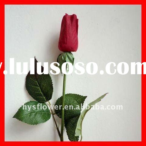 red rose bud, real touch rose, factory price, shenzhen artificial flower