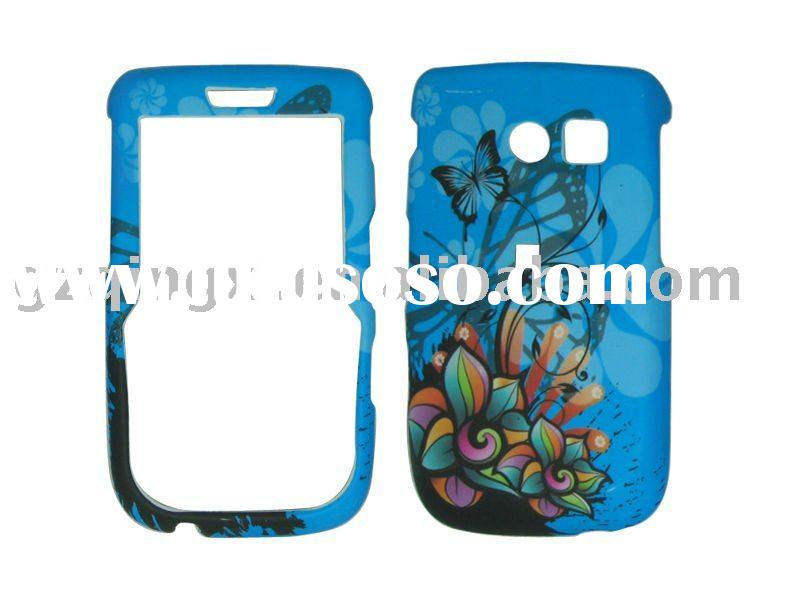 rubberized snap-on cell phone case with sticker for Samsung R360