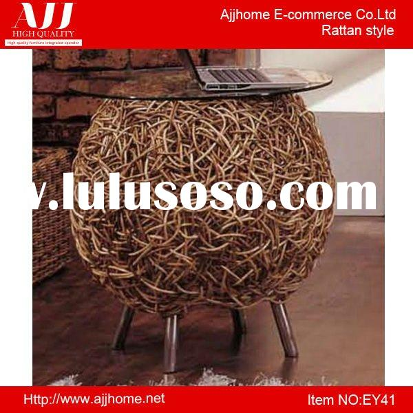 small round rattan coffee table EY41