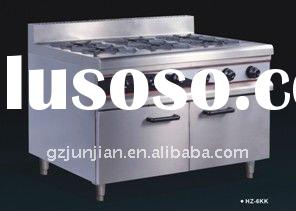stock top cooking range with cabinet(six burners)