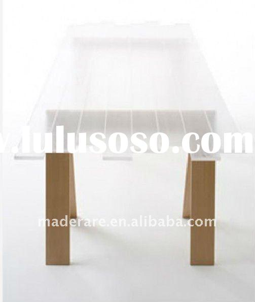 unique design white acrylic dining tables,fashion clear acrylic coffee table&chairs