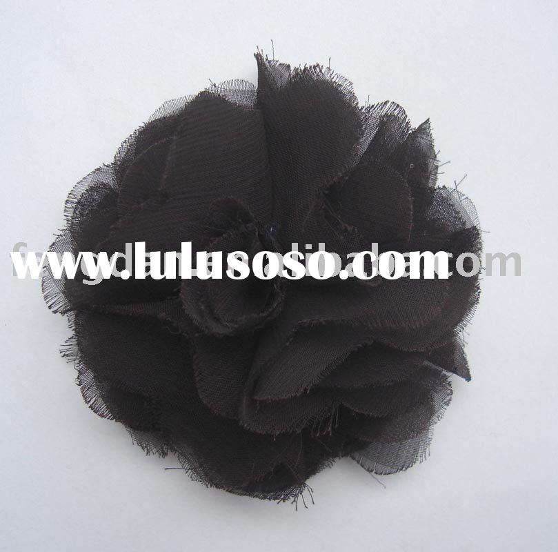 unique handmade chiffon fabric flower accessories suitable to brooches and hair accessories