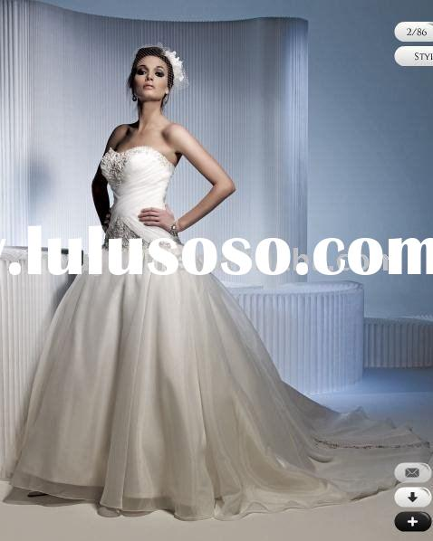 vintage and classic ball gown style 2011 wedding gowns PLW-021
