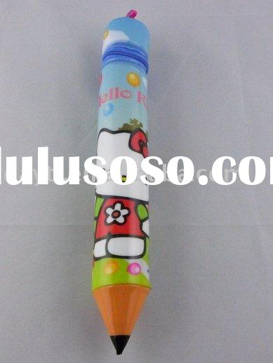 wholesale hot sale!!! gao HELLO KITTY 12pcs pencil case pencil bag columnar like a pencile school su