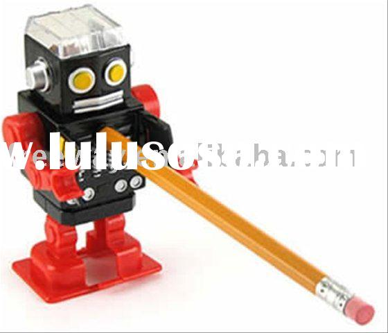 wholesale promotion robot manual pencil sharpener for children use
